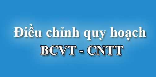 điều chỉnh quy hoạch BCVT